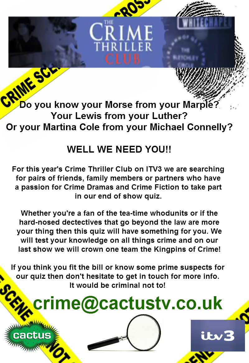 Crime Quiz Poster